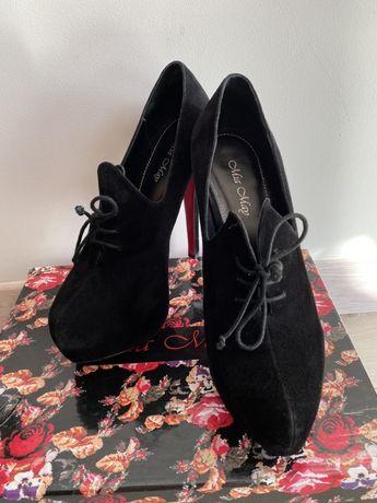 Туфли Miraton натуральная замша(размер 37)