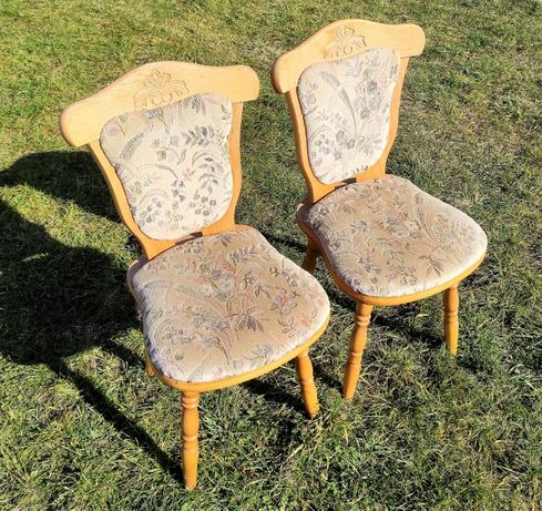 Krzesło Krzesła Drewniane 2 sztuki Komplet | Masywne | Wysyłka