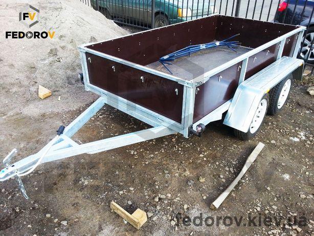 Автомобильный двухосный прицеп из фанеры 9 , цинк для стройматериалов