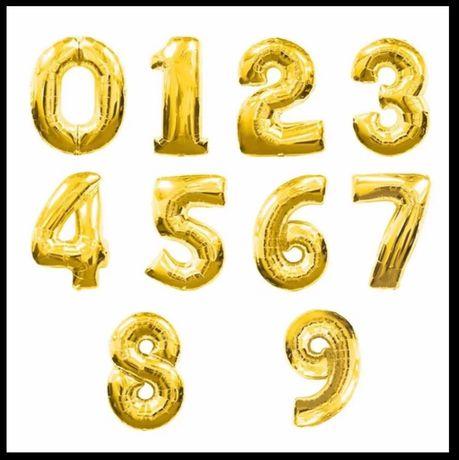 Balões aniversário gigantes , ouro gold mate