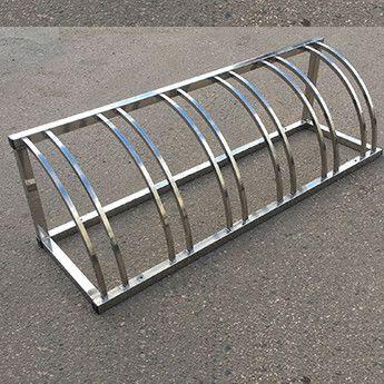 велопарковка из нержавейки или металл с порошковой покраской