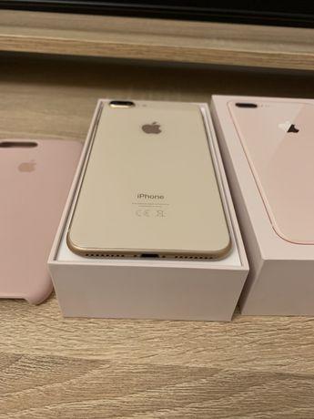 iPhone 8 Plus Gold/ Etui Apple/ Jak Nowy