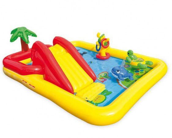 Дитячий басейн з гіркою Intex