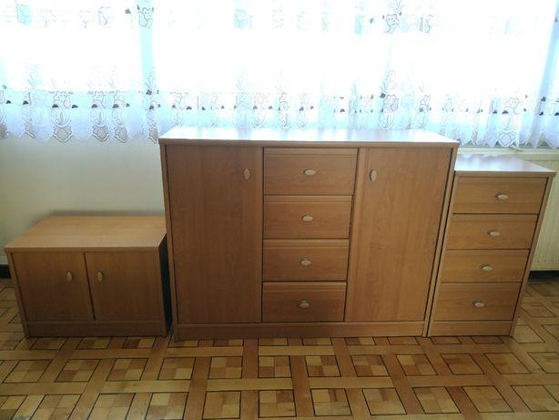 Komoda, szafka, biurko BRW Pop olcha miodowa