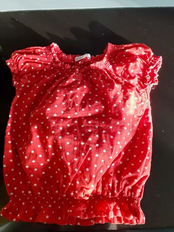 Bluzeczka w groszki cubus na gumce