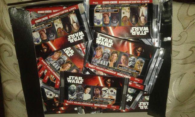 Rezerwacja 100 sztuk- Karty Star Wars Gwiezdne wojny- nowe paczki