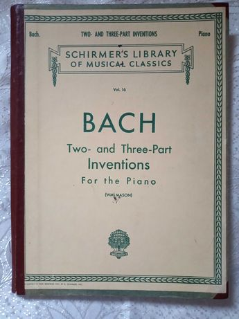 Бах. Two- and three-part inventions.Schirmer's Libr. of Music.Classics