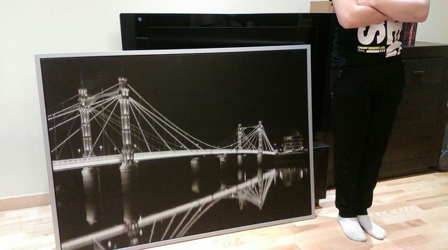 Obraz Albert Bridge. 95x135. W ramie