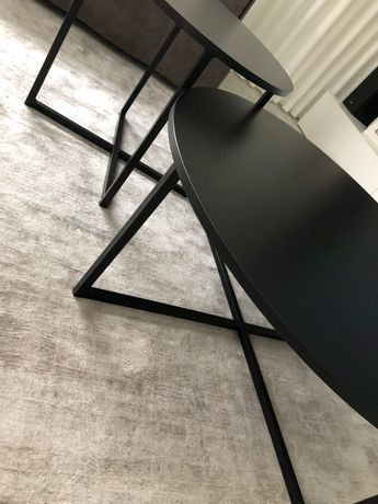Stoliki kawowe loft  czarne aluminium mdf nowoczesne
