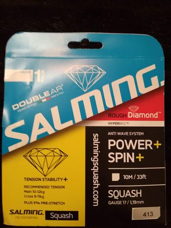 Струна для тенниса Salming Rough Diamond Squash String Set - Transpare