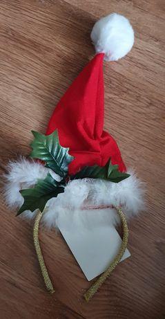 Opaska na głowę Świąteczna czapka Mikołaja