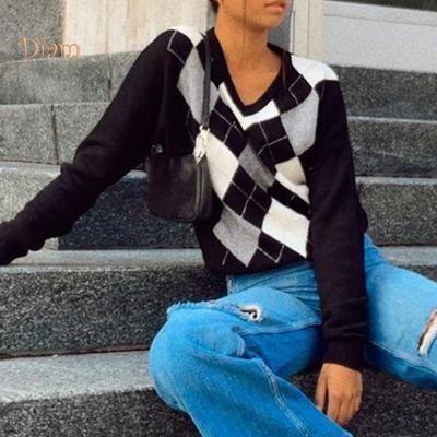 Распродажа Свитер tommy hilfiger с узором аргайл/ромб,пуловер s-m