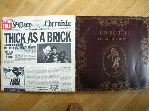Dwie płyty Jethro Tull Thick As A Brick 1 PRESS USA Living In The Past