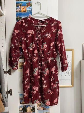 Sukienka w kwiaty H&M HM XS/S 36