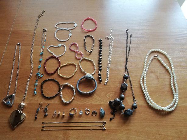 Biżuteria pierścionek wisiorek bransoletka