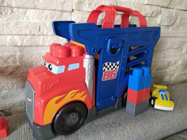 Mega bloks 2 zestawy: ciężarówka wyścigowa+ start wyścigu