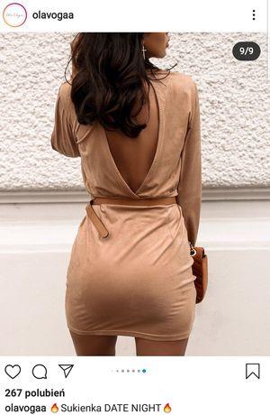 Nowa sukienka Date NIGHT OlaVogaa kamelowa uni