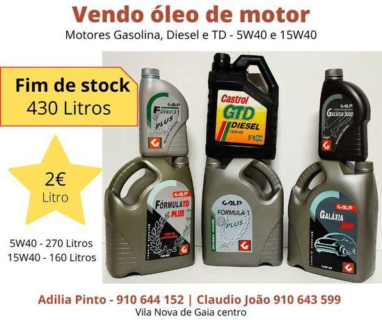 vendo oleo de motor de carro ultimas unidades - 5w40 ou 15w40
