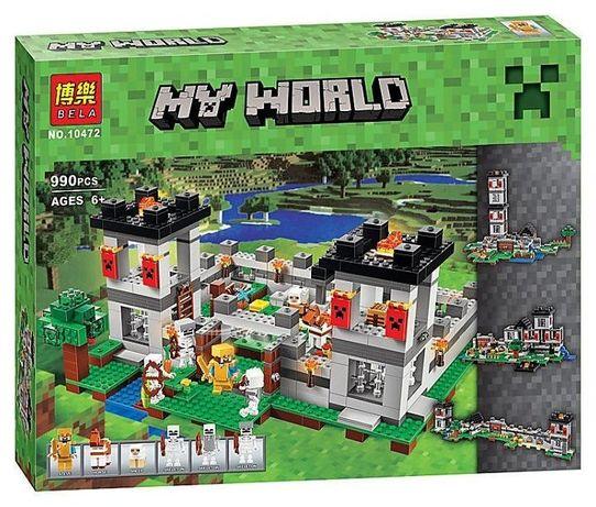 Конструктор 10472 Bela My World Крепость Майнкрафт 990 деталей Подробн