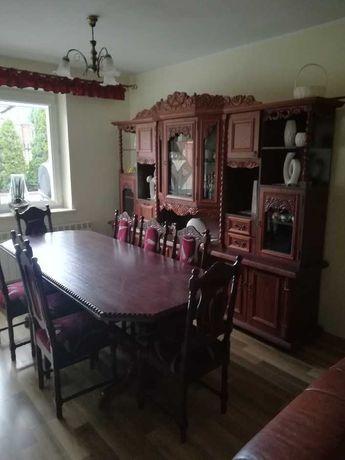 Kredens + stół+ 8 krzeseł ! Stan bardzo dobry !!