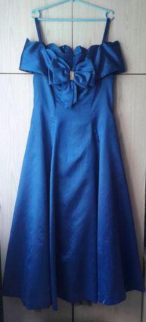 Niebieska vintage retro sukienka balowa wesele studniówka John Charles
