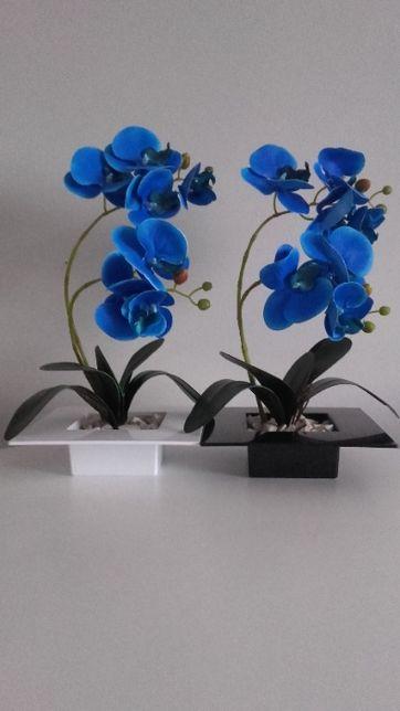 Storczyk niebieski IKEBANA silikonowy guma 40 cm