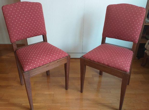 Par de cadeiras, anos 60, em optimo estado