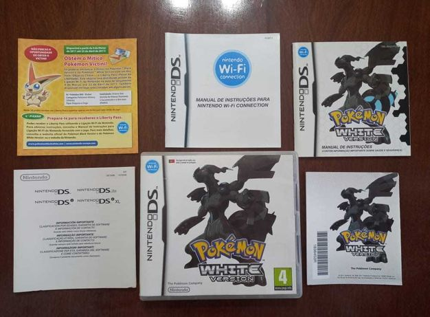 Pokemon White   Nintendo DS / 3DS   Caixa + Manuais