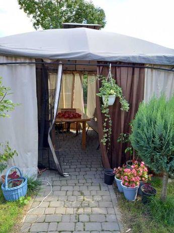 Pawilon Namiot Ogrodowy z moskitierą i stelażem - bardzo dobry stan