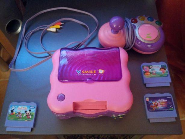 Consola V Smile Dora + 3 Jogos
