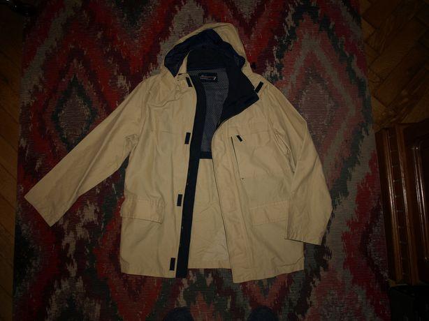 Мужская куртка ветровка Polbot, Made in Italy, капюшон съёмный