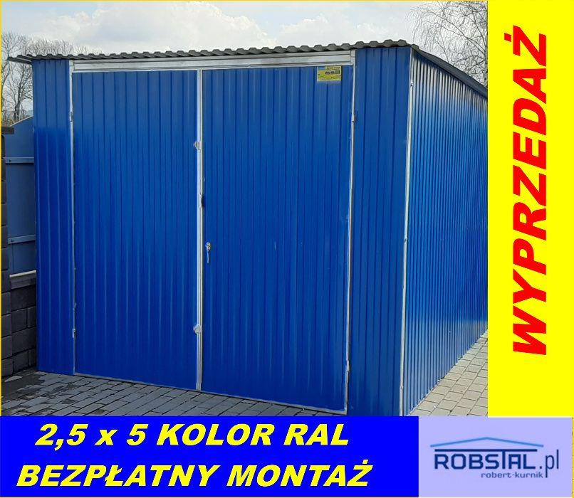 Garaż blaszany 2,5x5 od producenta GRATIS MONTAŻ, WYSOKA JAKOŚĆ!