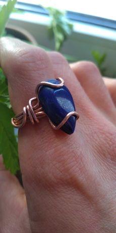 Pierścionek z Kamieniem Lapis lazuli