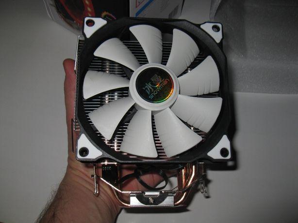 Кулер для проц. (4 тепловых трубки, 2 вентилятора 120 мм, 4-pin PWM)
