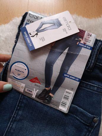 Nowe spodnie jeansy skinny 34 esmara xs super skinny fit jeansowe