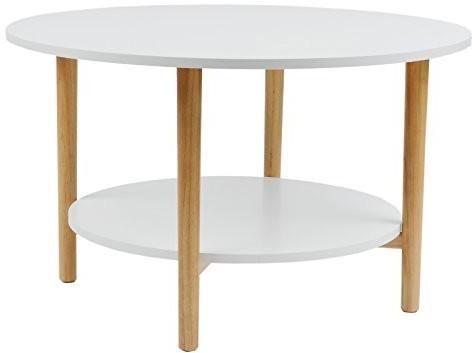 LIMAL Stolik kawowy stół do salonu z półką 75 x 75 x 45 cm