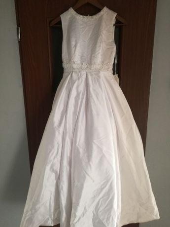 Suknia ślubna sukienka komunijna filigranowa nowa 158 164 XS 32 43