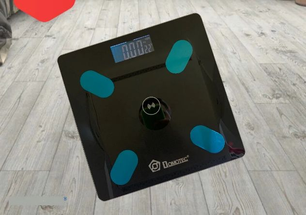 Смарт-Вага підлогова Domotec 180 kg з додатком на телефон