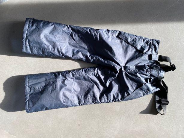 Spodnie narciarskie zimowe na szelkach 110-116