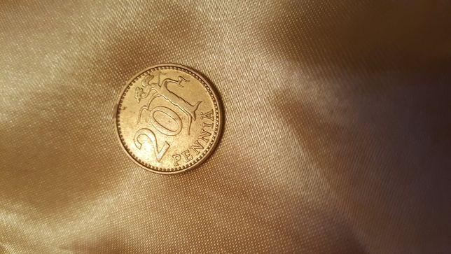 Moneta 20 Pennia 1980 r. Finlandia