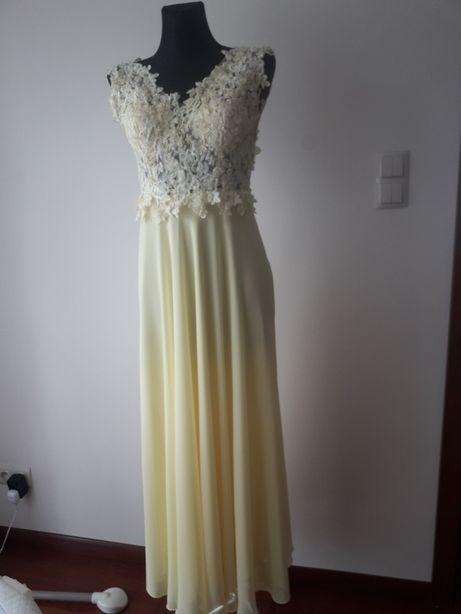 Sukienka, suknia długa na wesele koronka roz 38