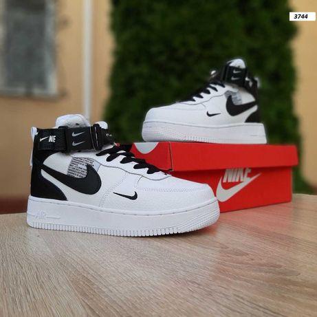 3744 Nike Air Force кроссовки найк аир форс мех зимние ботинки форсы