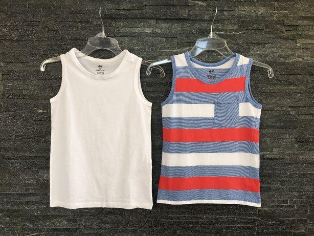 r. 128 cm / H&M zestaw - dwupak koszulki na ramiączkach dla chłopca