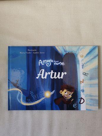 Livro a magia do meu nome: Artur