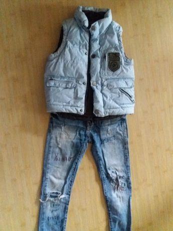 модные джинсы zarа 128 122