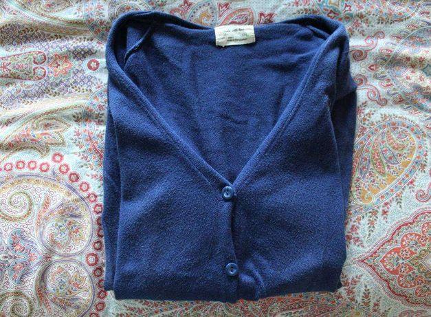 Casaco ZARA azul escuro de malha - 12 anos