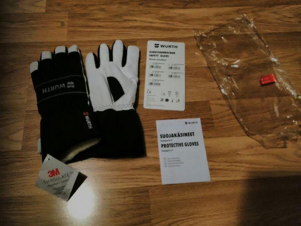 Теплые комбинированные перчатки