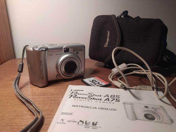 Aparat Canon PowerShot A75 100% sprawny + pokrowiec