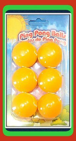 Zestaw 6 Piłeczek do Gry w (Ping-Ponga) Tenisa Stołowego