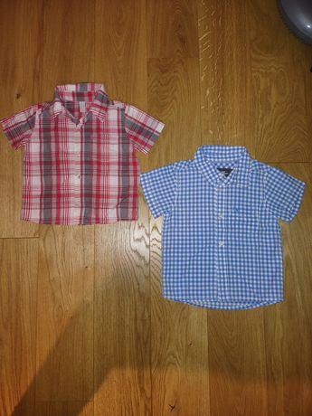 Koszule z krótkim rękawem 80 i 86